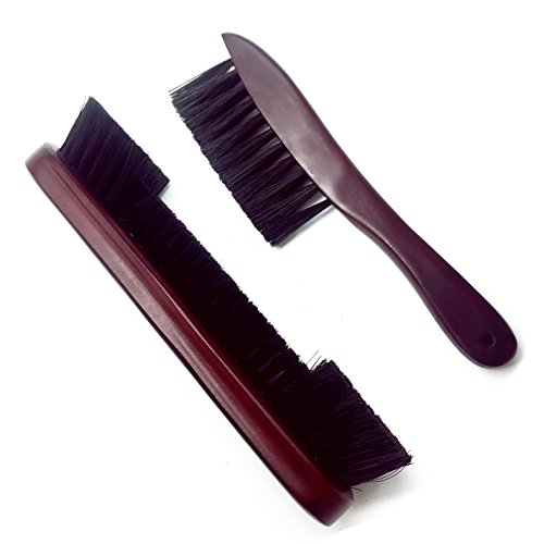 (OESS Billiard Pool Table Rail Brush Mahogany Finish Wooden Handle Nylon Bristles Set)