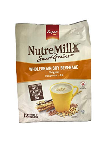 Super NutreMill Smart Grains/Wholegrain Soy Beverage/Original Flavor/Hearty Blend, Healthier Choice, Nutrient Packed, EveryDay Meal/After Workout Snack/ 12s x 35g