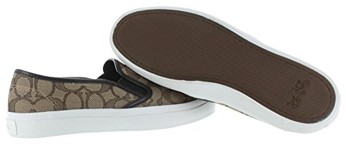 Coach Chrissy Mujeres Signature Slip On Sneakers Zapatos Khaki Chestnut