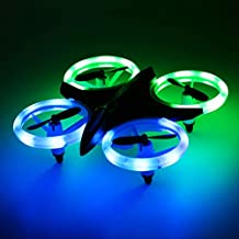 RC Drone for Kids and Beginners, MINI Drones with LED Lights RC Quadcopter Headless Mode 2.4GHz 4 Chanel 6 Axis Gyro Steady Hold Height Helicopter Gifts for Boys or Girls, Easy Fly for Training
