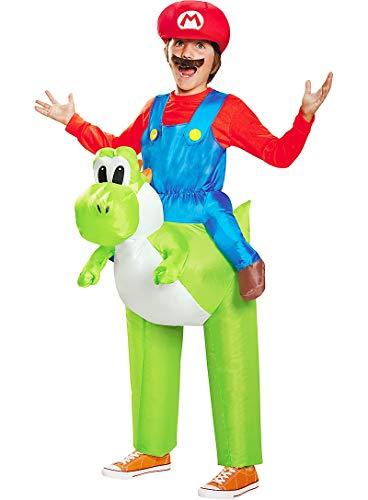 HalloCostume Boys Mario Yoshi Ride-On Costume - Super Mario Brothers Halloween Costumes for Boys, Kids