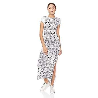 Splash Character A Line Dress for Women - Cream