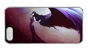 Hipster iphone 5 covers retro fallen angel artwork PC Transparent for Apple iPhone 5/5S