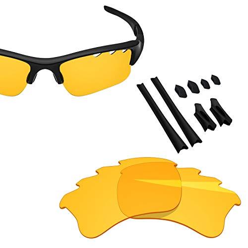 BlazerBuck Anti-salt Replacement Lenses & Sock Kit for Oakley Flak Jacket XLJ - Vented High Intensity yellow