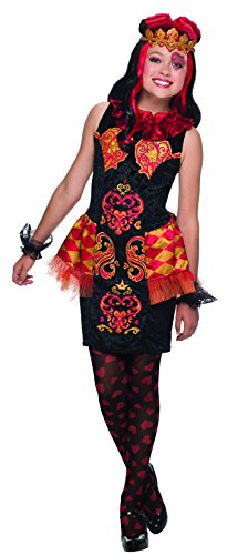 Queen Of Hearts From Alice In Wonderland (Ever After High Lizzie Hearts Costume, Child's Large)