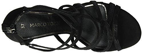 Marco Tozzi 28373, Sandalias con Cuña para Mujer Negro (Black Comb 098)
