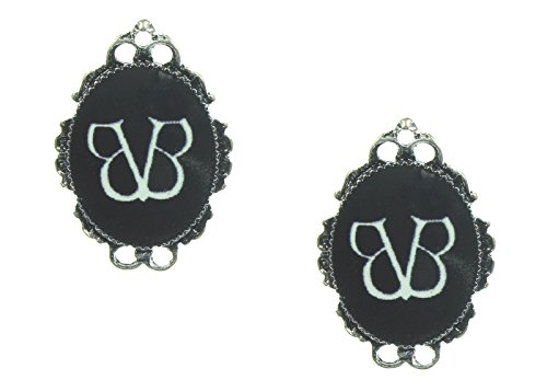 [Black Veil Brides Cameo Earrings] (Black Veil Brides Fallen Angel Costume)