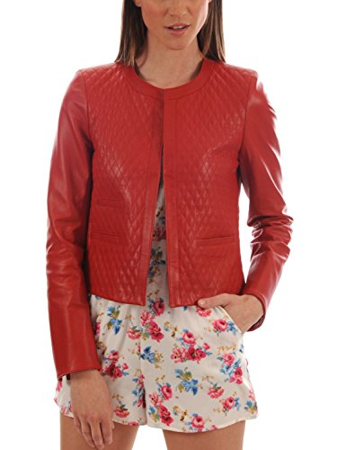 Junction Rosso Chaqueta Leather Mujer Para R47xn8qw