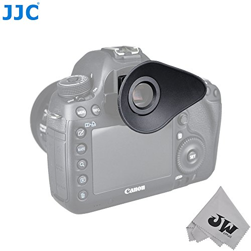 JW Eyecup Eye Cup Eyepiece Viewfinder For Canon EOS-5D Mark IV,1DX MarkII,1DX,5D MarkIII,5DS,5DSR,7D MarkII Digital Camera Replaces Canon Eyecup Eg+JW Cleaning Cloth