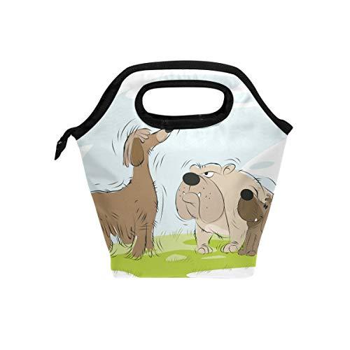 Senya Lunch Bag Insulated Lunchbox Handbag Tote Bags Reusable Cooler Containers Organizer School Outdoor For Women Men Girls Boys Kids Meeting Dogs On Walk