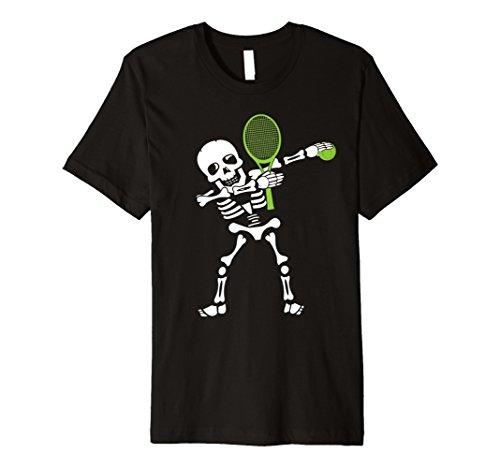 Tennis Halloween Costume Kids Dabbing Skeleton Tennis Dab