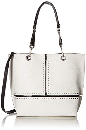 (Calvin Klein Sonoma Reversible Novelty North/South Tote Bag, white studded)