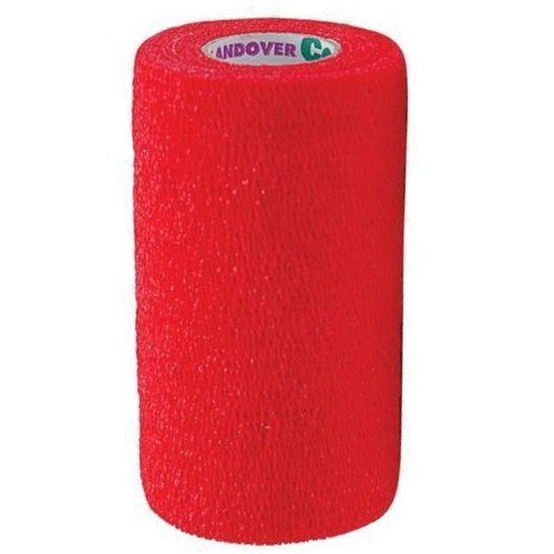 Andover Healthcare 7800-TLC-RD 2 Layer Coflex Bandage, Red (Pack of 16)