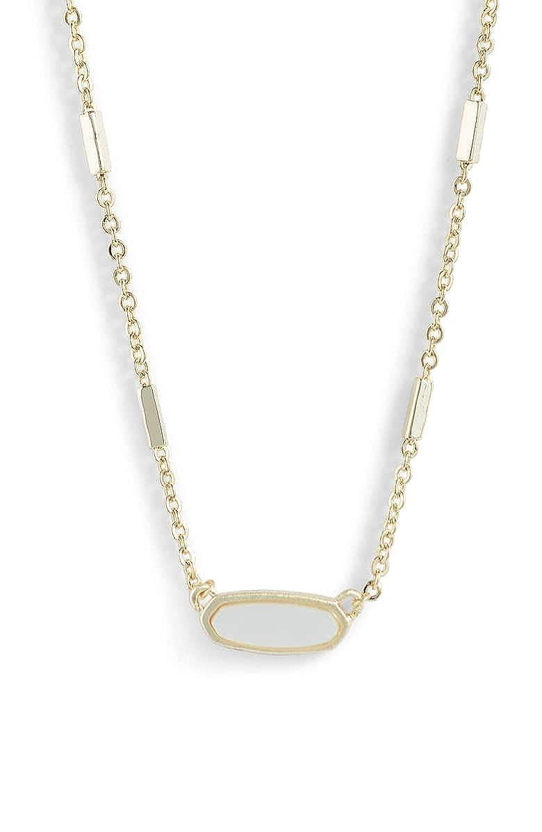 74e570e3dace0 Amazon.com: Kendra Scott. Miya East/West Ivory Mother of Pearl/Gold ...