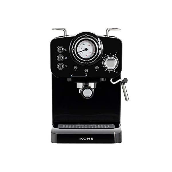 IKOHS THERA RETRO - Macchina del Caffè Express per caffè espresso e cappuccino, 1100 W, 15 bar, vaporizzatore regolabile… 2