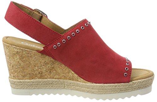 Sandali Con Il Cinturino In Pelle Da Donna Gabor Rosso (rosso)