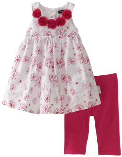 Calvin Klein Baby Girls' Flower Print Top with Hot Pink Bottom