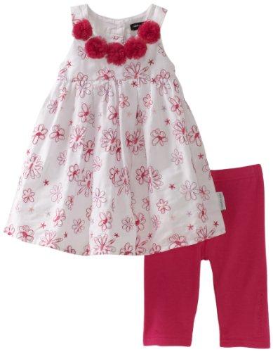 Calvin Klein Baby Girls' Flower Print Top with Hot Pink Bottom