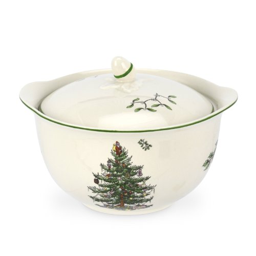 Spode Christmas Tree Individual Casserole with Handle, 4-Inch