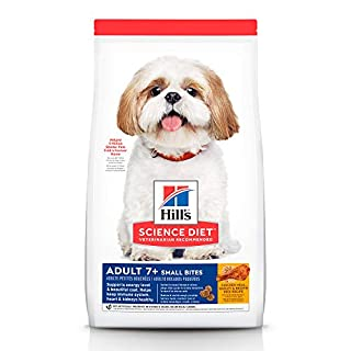 Hill's Science Diet Dry Dog Food, Adult 7+, Small Bites, Chicken Meal, Barley & Brown Rice Recipe for Weight Management, 15 LB Bag