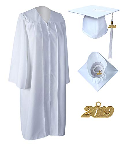 233c044d5c4 GraduationService Unisex Matte Graduation Gown Cap with 2019 Tassel  Included Package