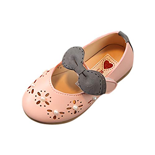 WENSYInfant Baby Child Baby Girl Girl Pearl Hollow Single Princess Shoes Sandals Cool Shoes Dance Shoes(Pink,27)