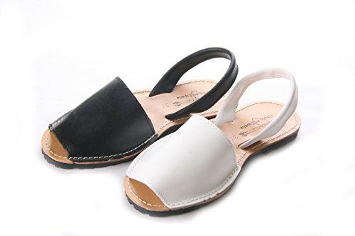 Mojoshu - Zapatos con tacón mujer Blanco liso