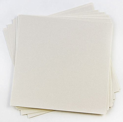 Stardream Opal Square - Stardream Opal Metallic Cardstock - 12 x 12, 105lb Cover, 25 Pack