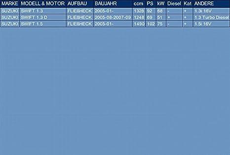 ETS-EXHAUST 52899 Endtopf Auspuff Anbauteile f/ür SWIFT 1.3 1.3 D 1.5 FLIE/ßHECK 92//69//102hp 2005-2007