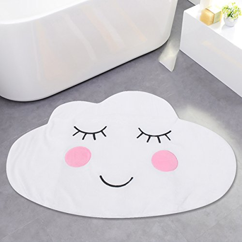 Aissimio Cotton Kids Play Mat/Rugs Bedroom Rugs Carpets Mats Nursery Rugs Playroom Children Mat for Home Decor Cloud As picture shown (Shaped Cloud Rug)