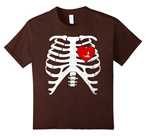 Kids KING COBRA with Skeleton Rib Cage Xray Bones TShirt 4 Brown