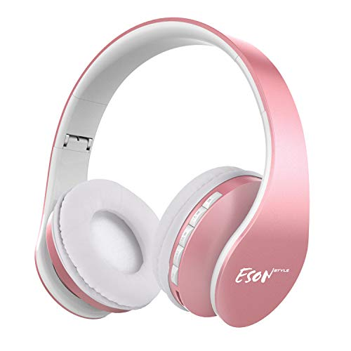 Bluetooth Headphones Over Ear, Esonstyle Wireless Stereo Foldable Headphones Wireless and Wired Headsets with Built-in Mic, Micro SD/TF, FM for iPhone/Samsung/iPad/PC