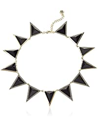 House of Harlow 1960 Black Triangle Theorem Collar Necklace
