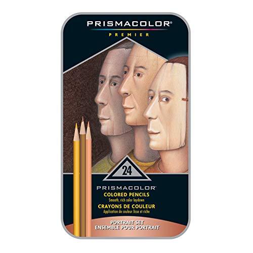 Sanford 25085R Prismacolor Premier Colored Pencils, Portrait Set, Soft Core, ()