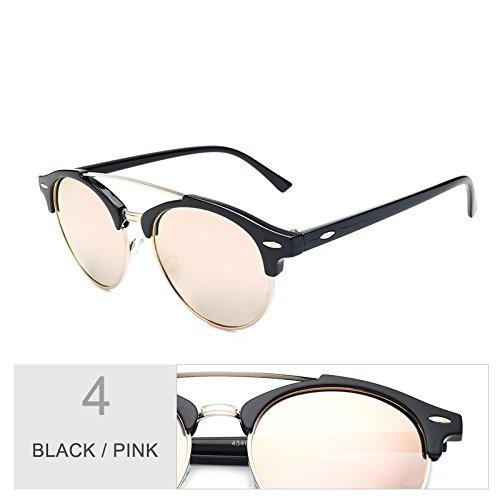 lunettes Black polarisées pour les rondes de lunettes châssis Sunglasses châssis Semi soleil hommes de femmes Senza TL Pink Guide Hommes Lunettes HYXwHS
