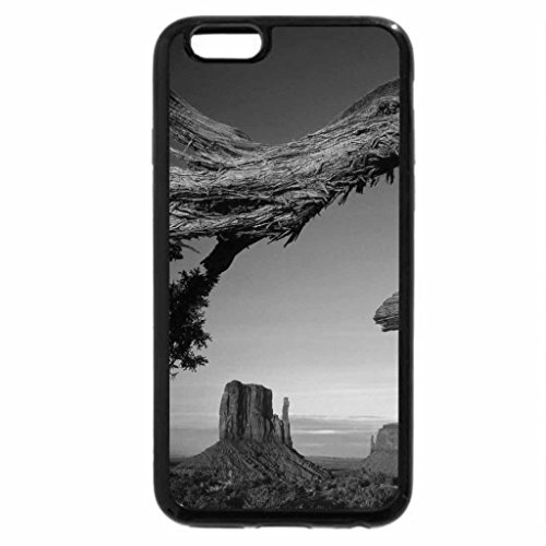 iPhone 6S Case, iPhone 6 Case (Black & White) - desert sky