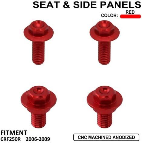 Fastpro Motorcycle Screw Screws For Seat /& Side Panels for Hon-da CRF250R 2006-2009