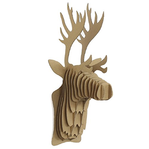 Deer Head Trophy - I'm Charmer Recycled Cardboard Animal Taxidermy Deer Trophy Head