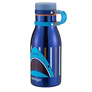 Contigo Double Wall Vacuum Insulated Stainless Steel Maddie Kids Water Bottle, 12-Ounce, Sapphire