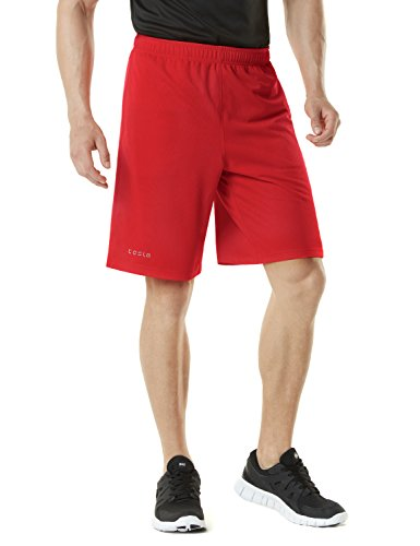 Tesla Men's Active Shorts Sports Performance HyperDri II With Pockets MBS01