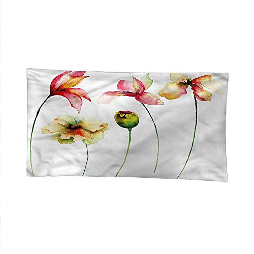 - Floralsimple tapestryart tapestryPoppy Chamomile Daisy Lily 91W x 60L Inch