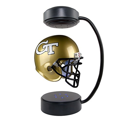 Georgia Tech Yellowjackets  NCAA Hover Helmet - Collectible Levitating Football Helmet with Electromagnetic Stand