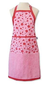 Terry Cloth Apron with Cherries