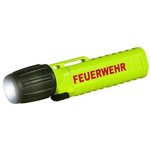 UK Lights Helmlampe 4AA eLED Zoom, mit Aufdruck Feuerwehr, S/Frontschalter, neongelb 14541F