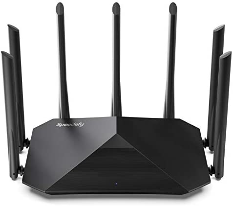 Speedefy AC2100 Smart WiFi Router - Dual Band Gigabit Wireless Router for Home & Gaming, 4x4 MU-MIMO, 7x6dBi External Antennas for Strong Signal, Parental Control, Support IPv6 (Model K7)
