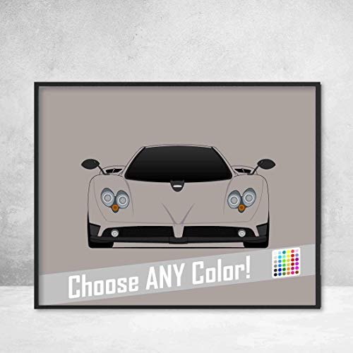 - Pagani Zonda Roadster Poster Print Wall Art Decor Handmade C12 S 7.3 F Cinque HP Barchetta