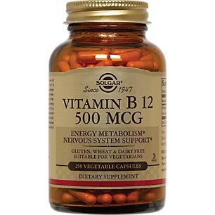 Solgar - Vitamin B12, 500 mcg, 250 Vegetable Capsules
