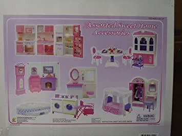 barbie size doll house dollhouse furniture 5 rooms w lights and sound amazoncom barbie size dollhouse