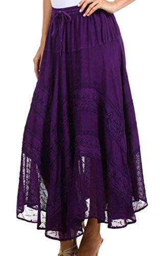 Purple One Sakkas Ivy Maiden Plus Size Boho 13222 Jupe OrqYqZPXn