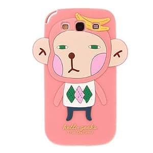 Mono de la cubierta del gel de dibujos animados patrón suave del silicio nuevo caso para el Samsung Galaxy S3 I9300